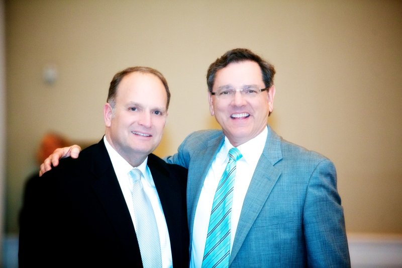 David Young, Board Member with John Spooner, Home-Team Supporter