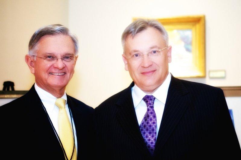 Yuri Yakovlyev with Bob Boren, HopeHouse Treasurer