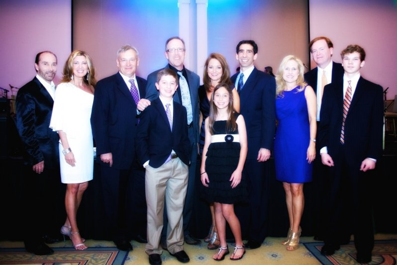 Lee & Kimberly Greenwood, Jeff Allen, Dr. Brent and Event Chair, Leah Kay Gabriel, with children Garrett and Olivia, Deneen, Mark, and Drew Turner