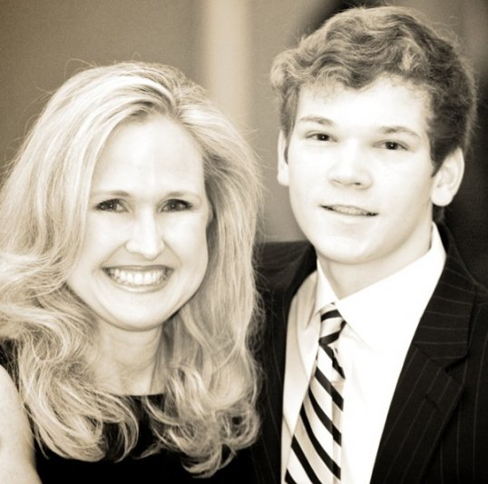 Deneen with Drew Turner, Manager of HopeHouse on-line store
